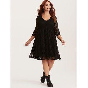 Torrid Black Lace Babydoll Dress Size 2 (2X)